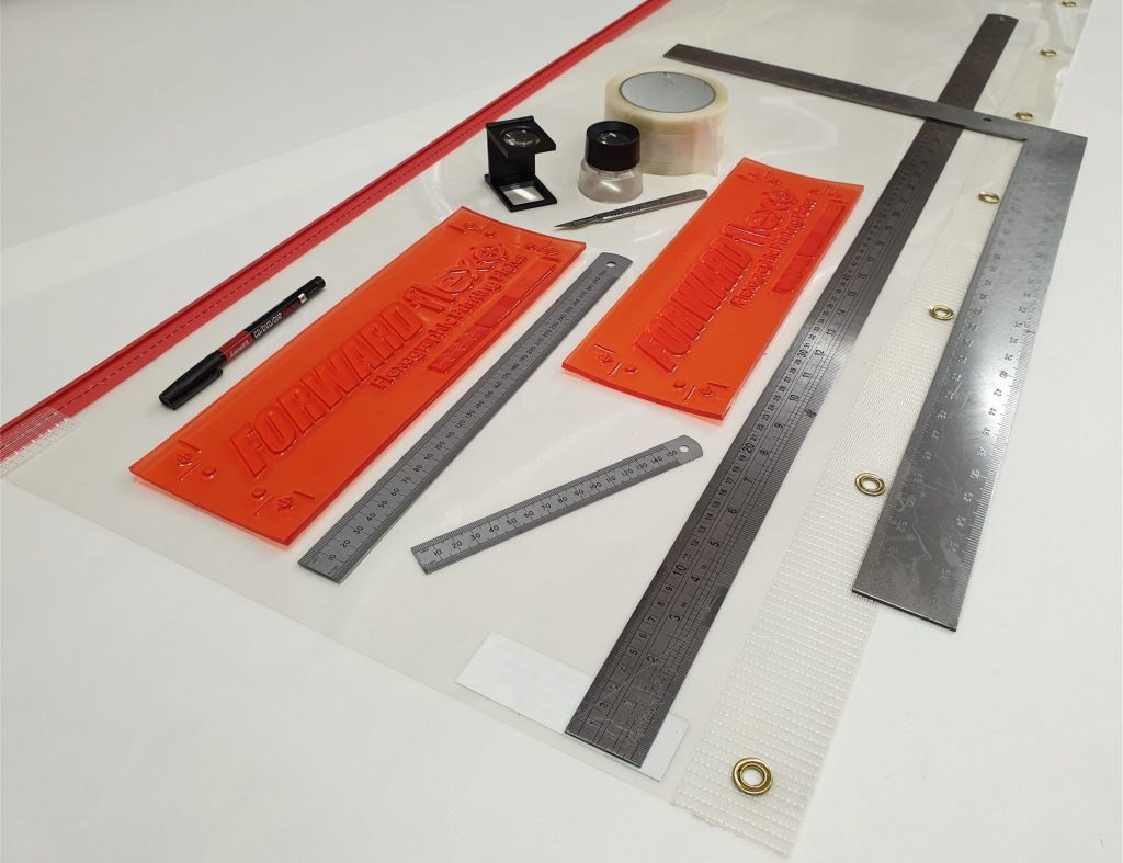 """6.35mm or 0.25"""" Flexo Plate and mounting tools"""