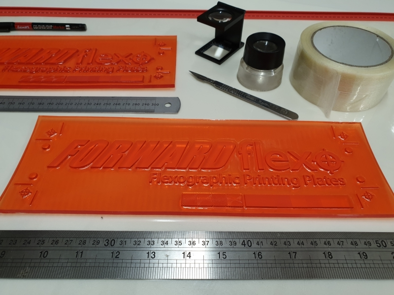 "6.35mm or 0.25"" Flexo Plate and mounting tools"